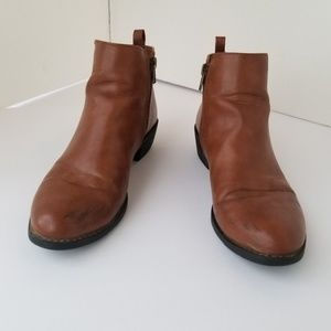 Forever 21 boots brown ankle booties